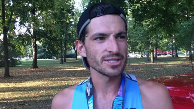 Former Kimberly high school standout Alex Rink won the mens half-marathon and Michelle Lee of Sun Prairie won the womens half-marathon at the Fox Cities Marathon on Sunday in Neenah.