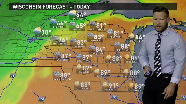 Wisconsin weather forecast for Monday, Sept. 25