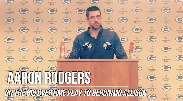 Rodgers breaks down dramatic overtime play