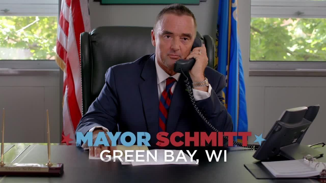 "Mayor Jim Schmitt stars in a series of promos for new ABC sitcom ""The Mayor."" Courtesy of ABC."