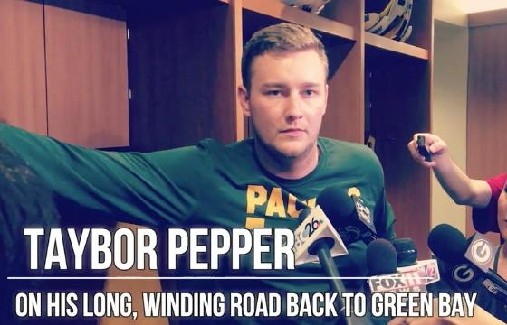 Taybor Pepper discusses return to Green Bay