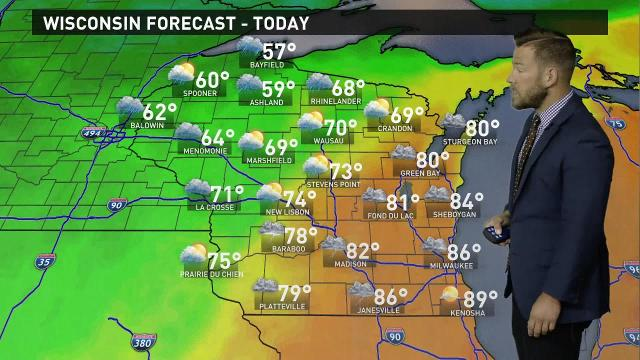 Wisconsin weather forecast for Tuesday, Sept. 26