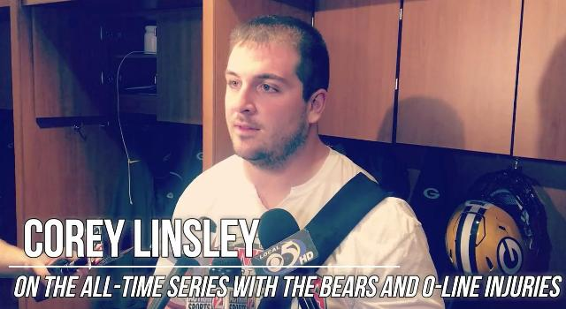 Corey Linsley on Bears, offensive line injuries