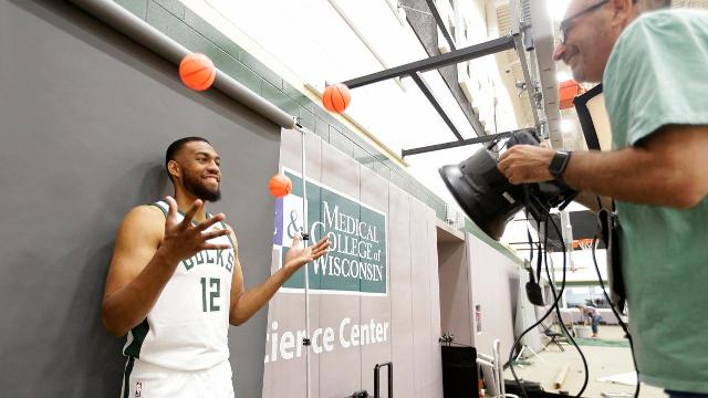 Video: Bucks players have fun at Media Day