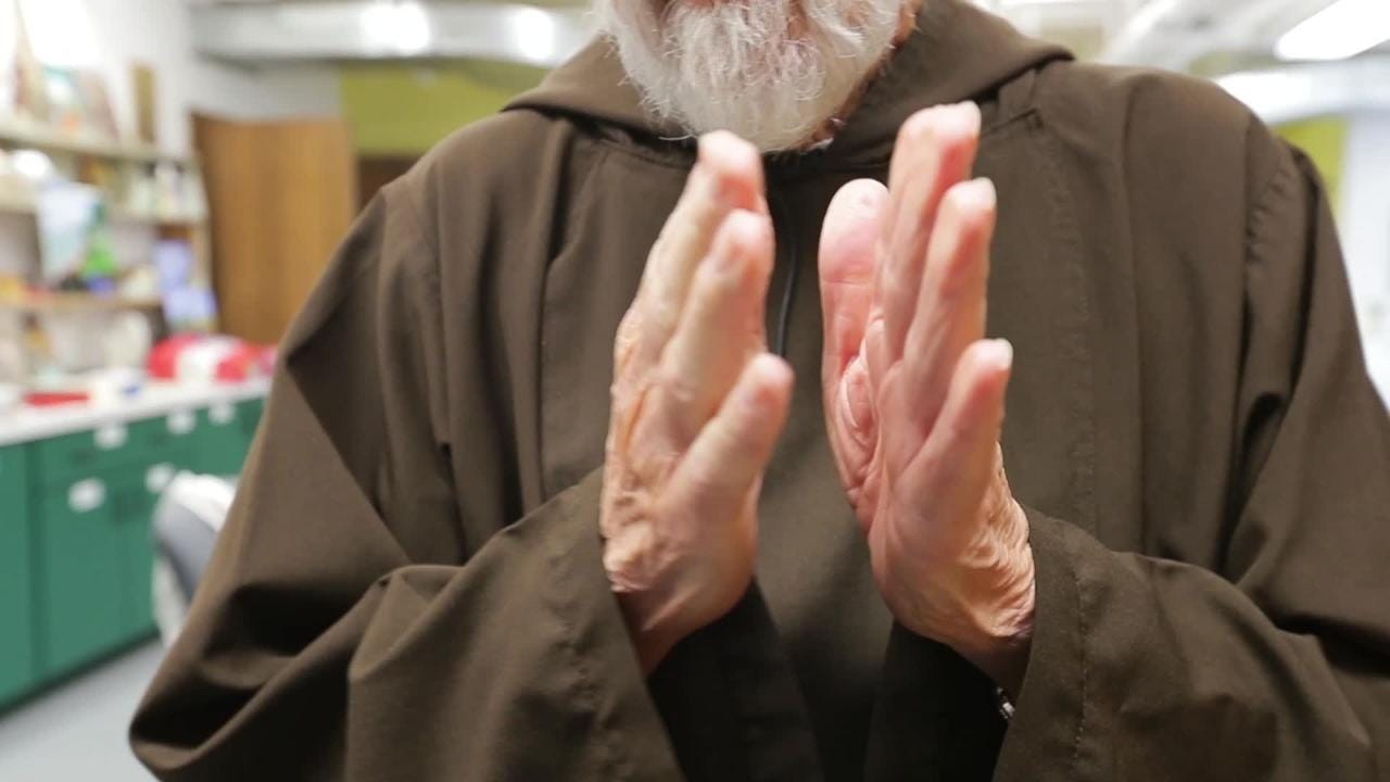 Robert Udulutsch is a retired Capuchin friar who made his own casket out of biodegradable scrap materials.
