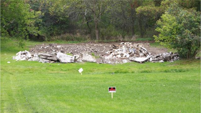 A home on the 1200 block of Kickbusch Street in Wausau was improperly demolished and neighbors say they're now living with a virtual landfill in their backyards.