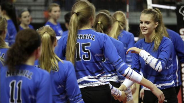 The Bluejays middle hitter talks about her individual goals, the improvement in her service game and what it will take for Merrill to make a return trip to the WIAA state volleyball tournament this Fall.