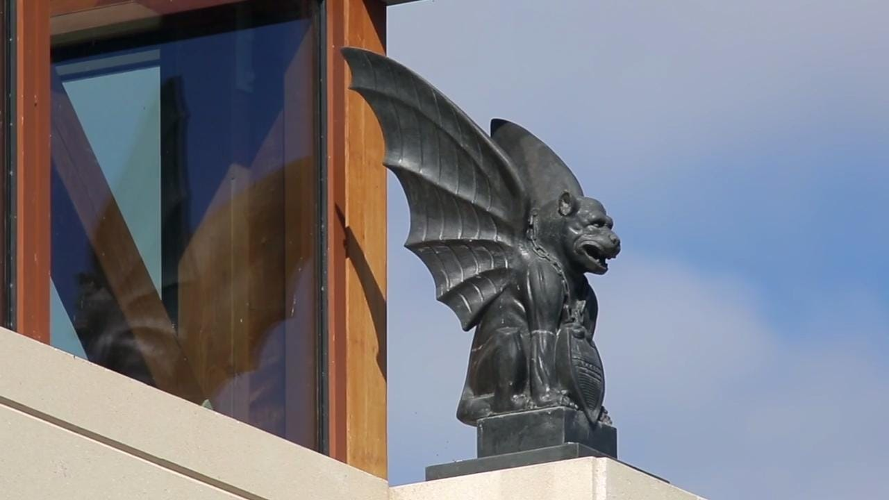 Acuity Insurance installs protective gargoyle statues at ...