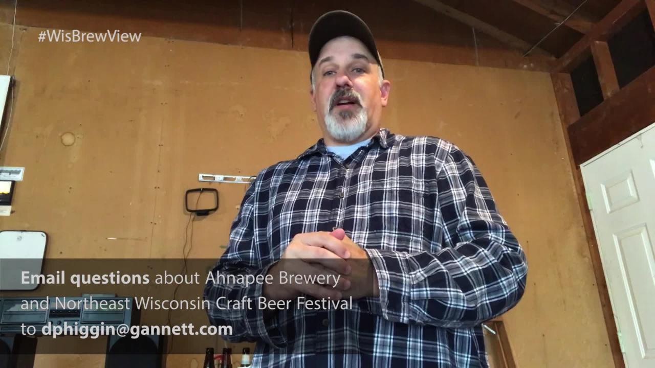 Our WisBrewView Live guests include Nick Calaway, owner/head brewer of Ahnapee Brewery.