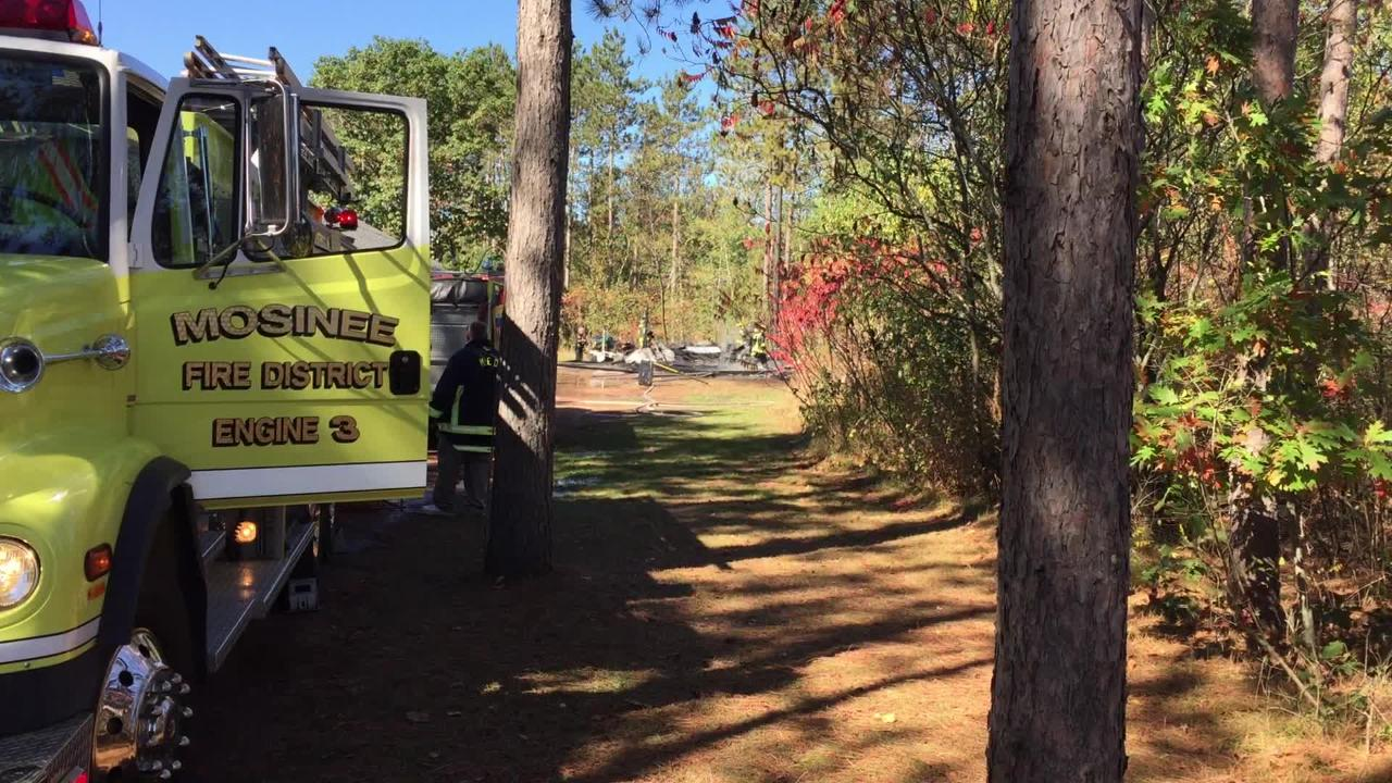 Firefighters responded to a garage fire Wednesday south of Mosinee.