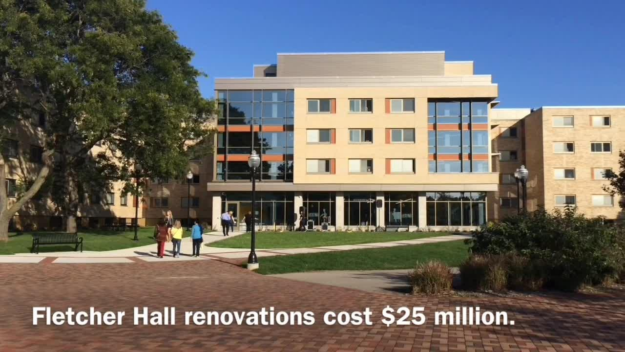 University of Wisconsin-Oshkosh officials revealed the newly renovated Fletcher Hall and Reeve Memorial Union on Monday, Oct. 9.