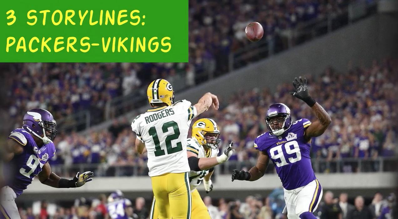 A quick overview of three storylines that could help determine the outcome of Sunday's showdown between the Green Bay Packers and the Minnesota Vikings. (Oct. 10, 2017)