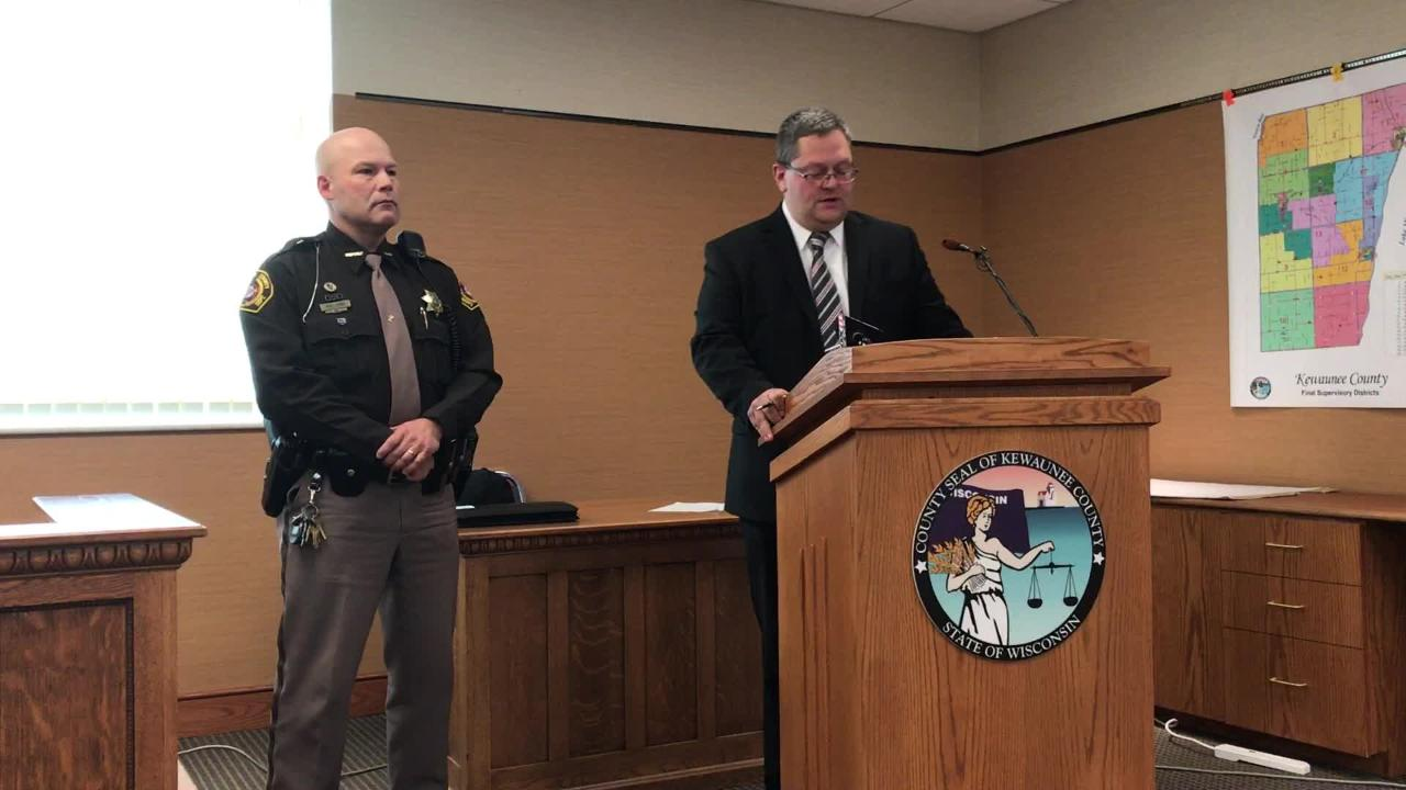 Kewaunee County District Attorney Andrew Naze announces that no charges will be filed against the deputy involved in an Aug. 21 fatal shooting. (Oct. 10, 2017)