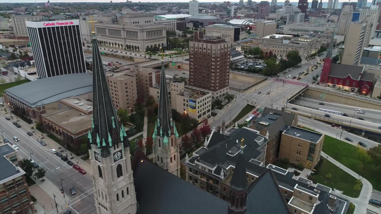 Holy Hill, Bucks arena, Marquette: Drone footage highlights