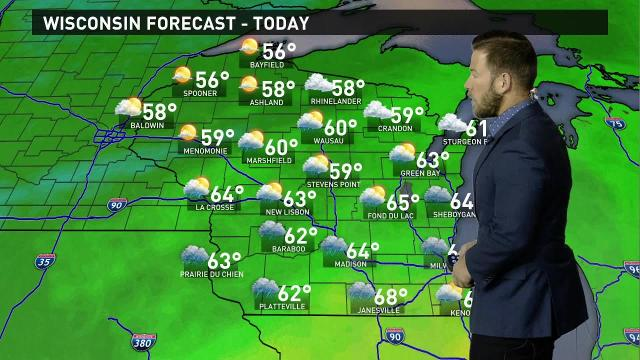 Wisconsin weather forecast for Friday, Oct. 13