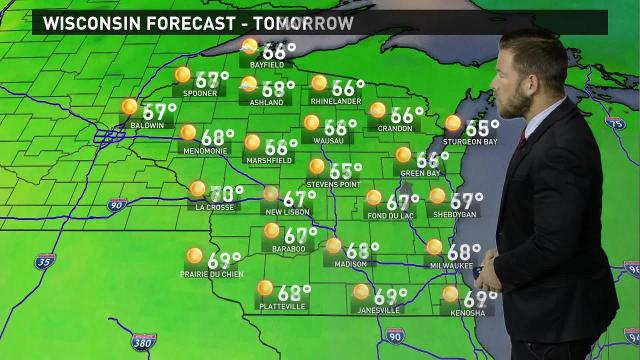 Wisconsin weather forecast for Monday