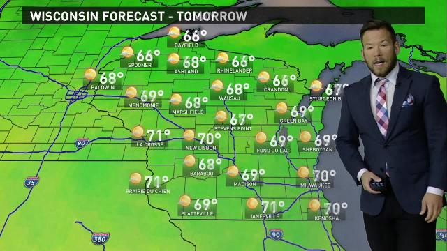 Wisconsin weather forecast for Tuesday, Oct. 17