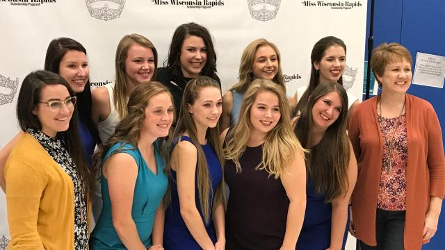 Nine women prepare to compete in the 2018 Miss Wisconsin Rapids Area Scholarship Pageant, taking place Oct. 21, 2017 in Wisconsin Rapids.
