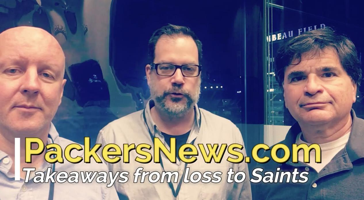 Pete Dougherty, Aaron Nagler and Tom Silverstein give their initial impressions from the Packers' 26-17 loss to the New Orleans Saints.