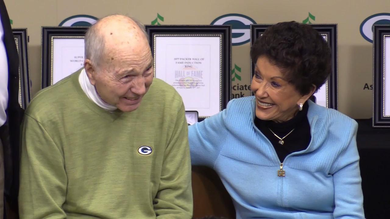 Former Green Bay Packers quarterback Bart Starr donated his Super Bowl II championship ring and other items to the Hall of Fame during, what his family says, was his last trip to Green Bay on Oct. 23, 2017.