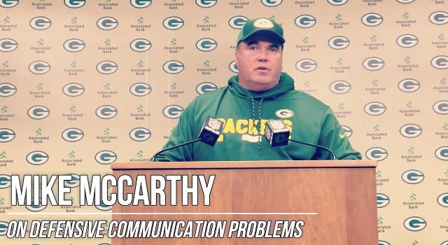 McCarthy addresses Packers' defensive breakdowns