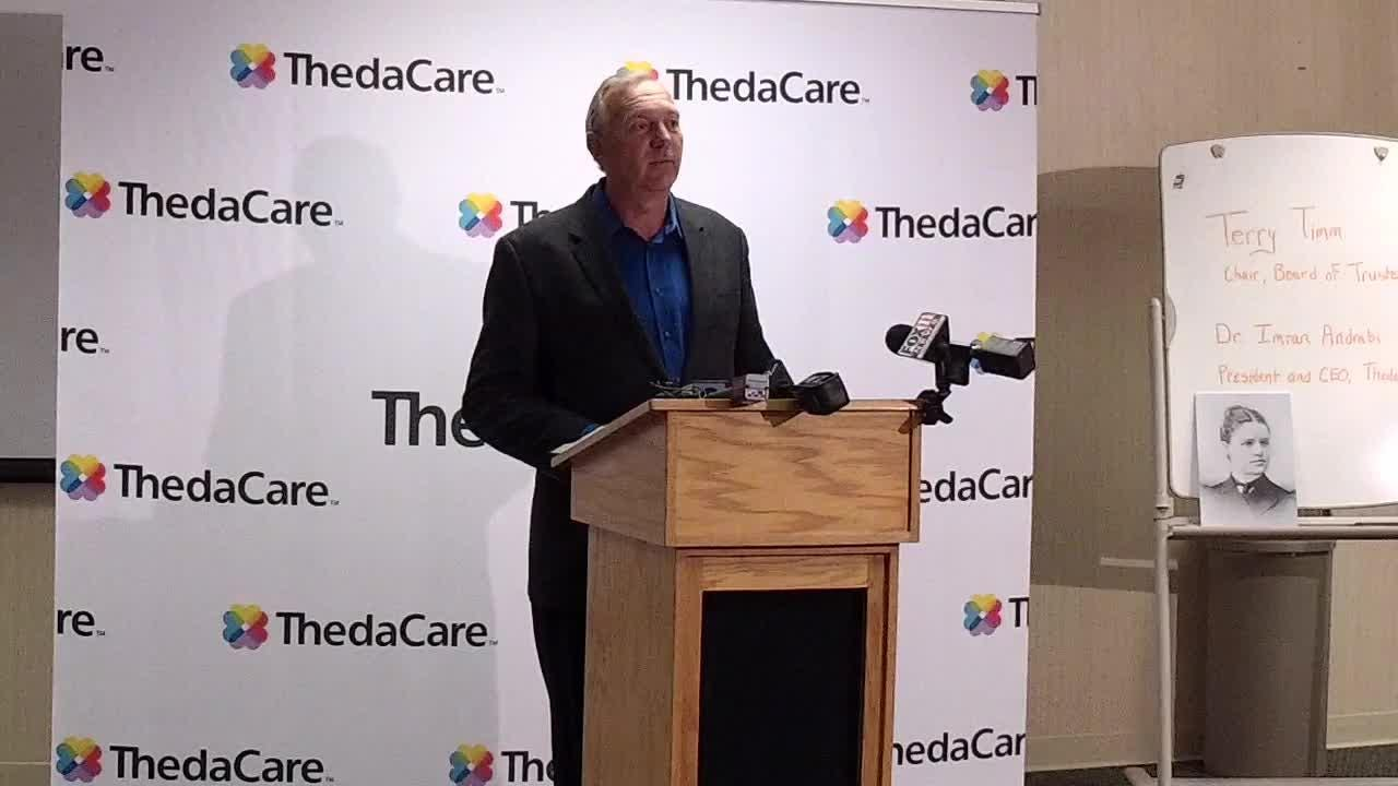 Terry Timm, chairperson of the ThedaCare Board of Trustees, explains why the board voted to keep its hospitals in Appleton and Neenah instead of consolidating into one regional hospital. (Oct. 25, 2017)