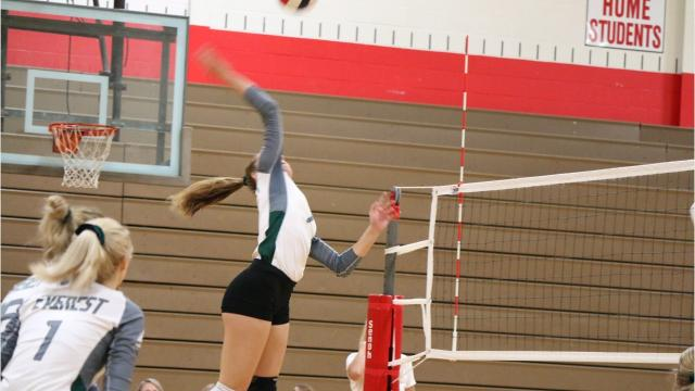 The Evergreens veteran talks about reaching milestones on the court and what has been the most memorable kill of her prep career