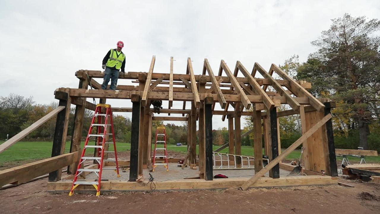 Owen and Elspeth Christianson donated their replica of a Viking-era house to the University of Wisconsin-Green Bay, where it's being reconstructed piece-by-piece on campus.