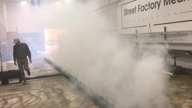Brown County dispatchers have received dozens of calls mistakenly reporting that a fog machine connected to billboards in Bellevue and