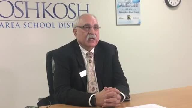 Oshkosh Area School District Superintendent Stan Mack II talks about a bomb threat to Oshkosh North High School that officials deemed not credible.