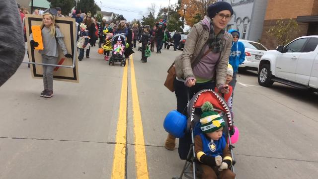 Take a peek at some of the frightening and creative costumes characters marching in the Thrills on Third costume parade in Sturgeon Bay on Oct. 28, 2017.