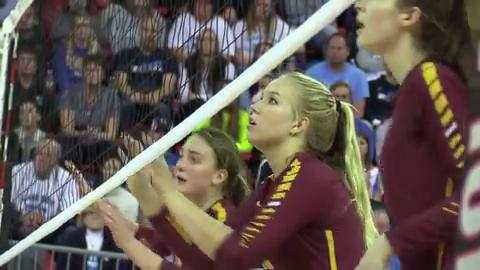 Luxemburg-Casco girls volleyball took second place in the D2 WIIA state volleyball championship on Nov. 4, 2017.
