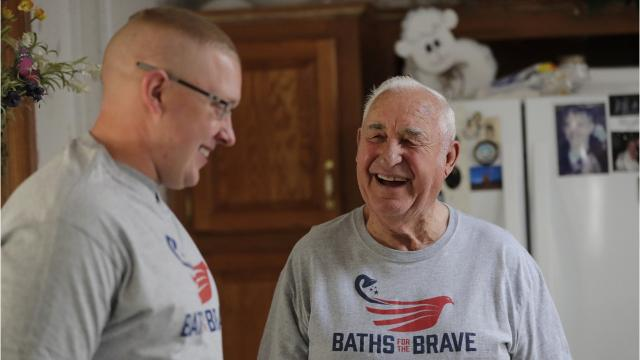 Korean War veteran Norman Bodway is one of 10 veterans nationwide to receive a free bathroom remodel this month as part of Tundraland's Baths for the Brave program. Bodway, a Menasha resident, earned a Bronze Star for his heroic actions in February 1953.