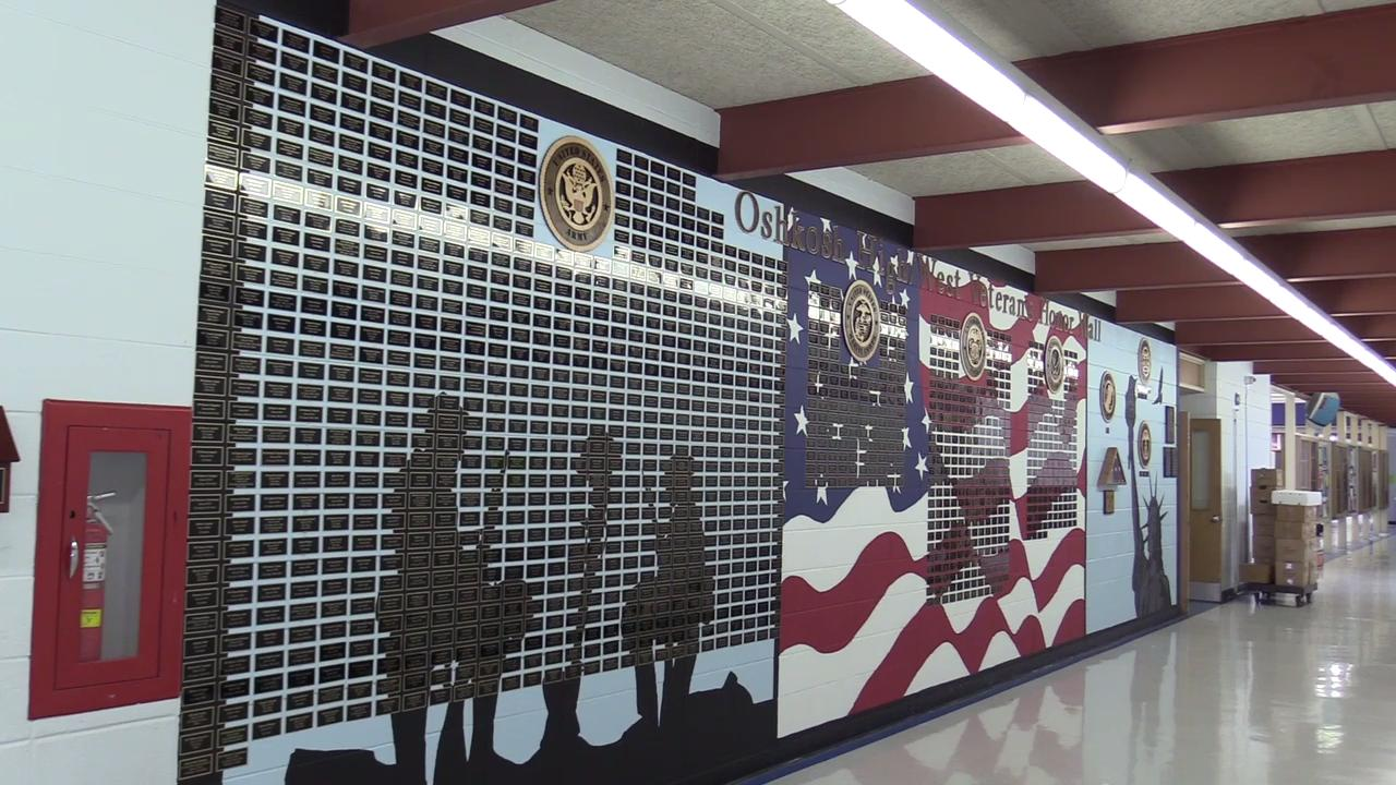 The Oshkosh High/West Veterans Honor Wall will be unveiled at the Veterans Day ceremony at Oshkosh West High School.  Over 1500 names have been collected of men and women who went to the schools and served in the military.