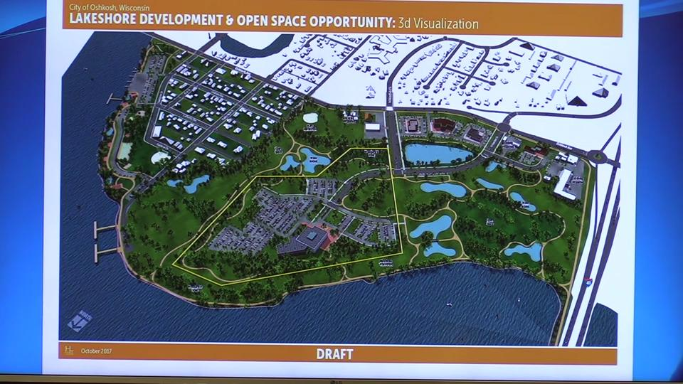 The Oshkosh Common Council voted, 6-0, Wednesday, Nov. 8, 2017, to sell 35 acres of Lakeshore Municipal Golf Course to Oshkosh Corp. for the company's new world headquarters.