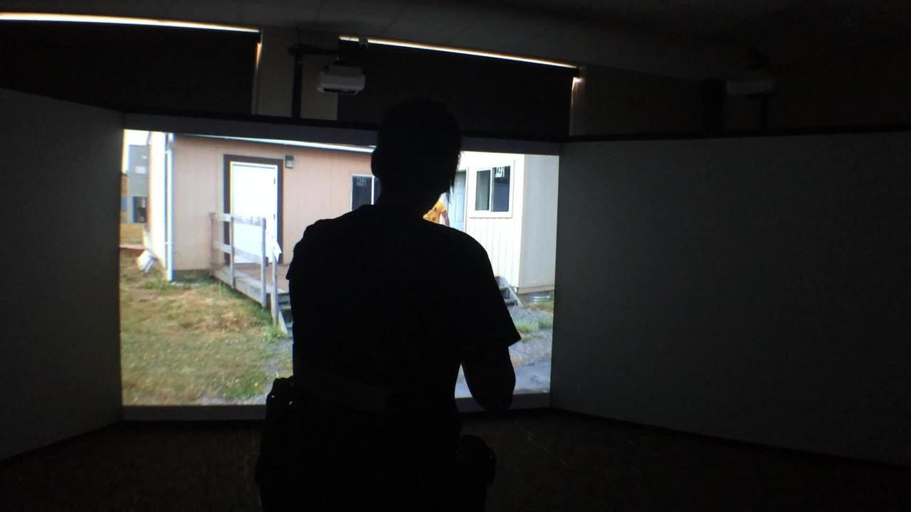 Fox Valley Technical College has gotten a new use-of-force training simulator to give students a more immersive experience. The goal: The first time they deal with a situation on the street is not their first experience in such a scenario.