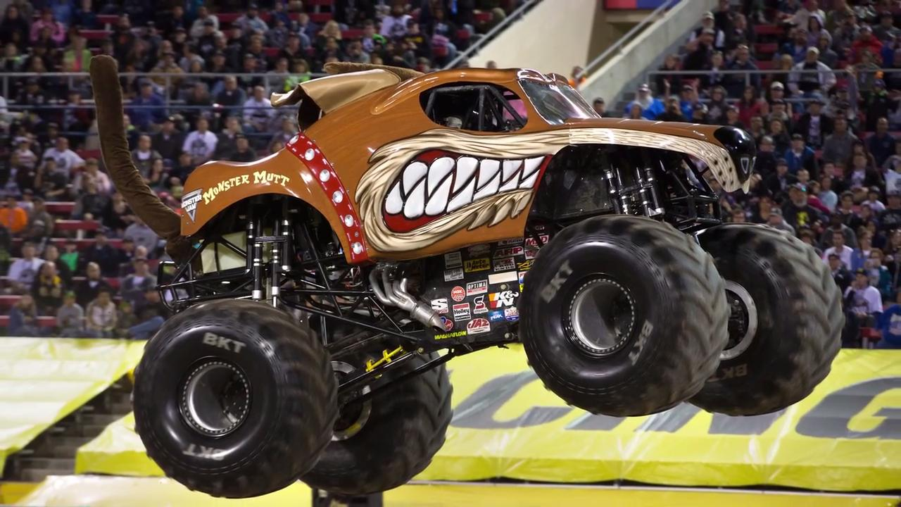Monster Jam driver Kevin Crocker says his dog-shaped truck is a fan favorite. The Resch Center is hosting Monster Jam shows on Nov 10-11, 2017.