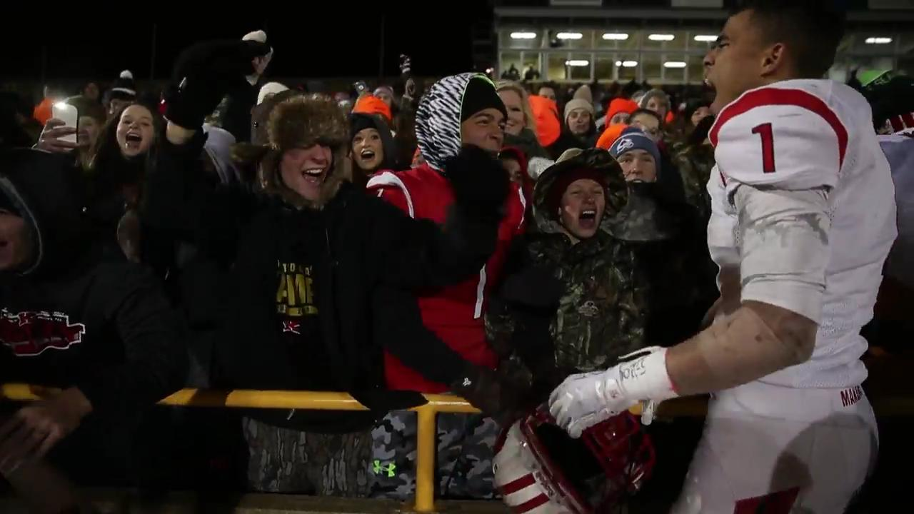 Kimberly players celebrate with fans after win