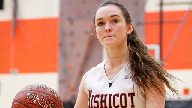 Senior Spotlight Q&A video with Mishicot girls basketball player Hannah Sweetman.