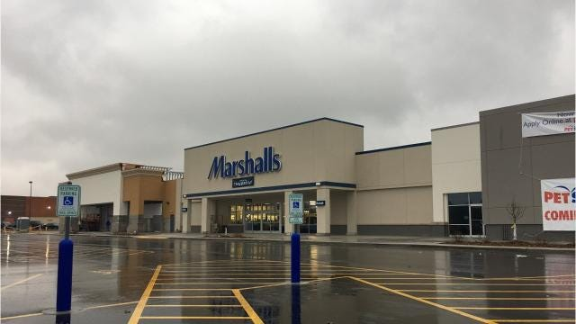 Marshalls will open Nov. 16 and Petsmart on Dec. 2. The retailers are two of three that will move into the revamped former Cub Foods building near East Town Mall. Nov. 15, 2017.