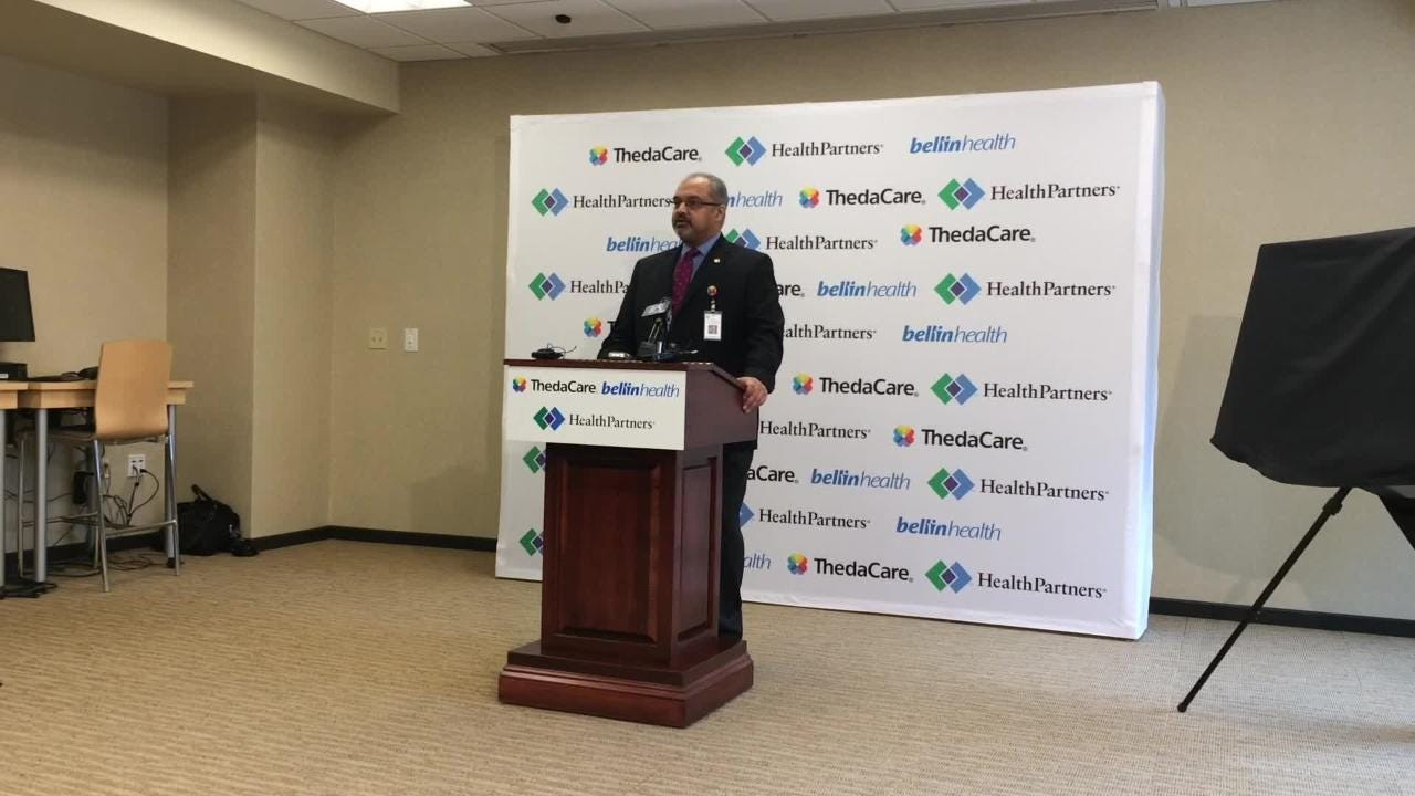 ThedaCare CEO Imran Andrabi announces a collaboration involving ThedaCare, Bellin Health and HealthPartners to give companies in Wisconsin more options when choosing a health plan for their employees.