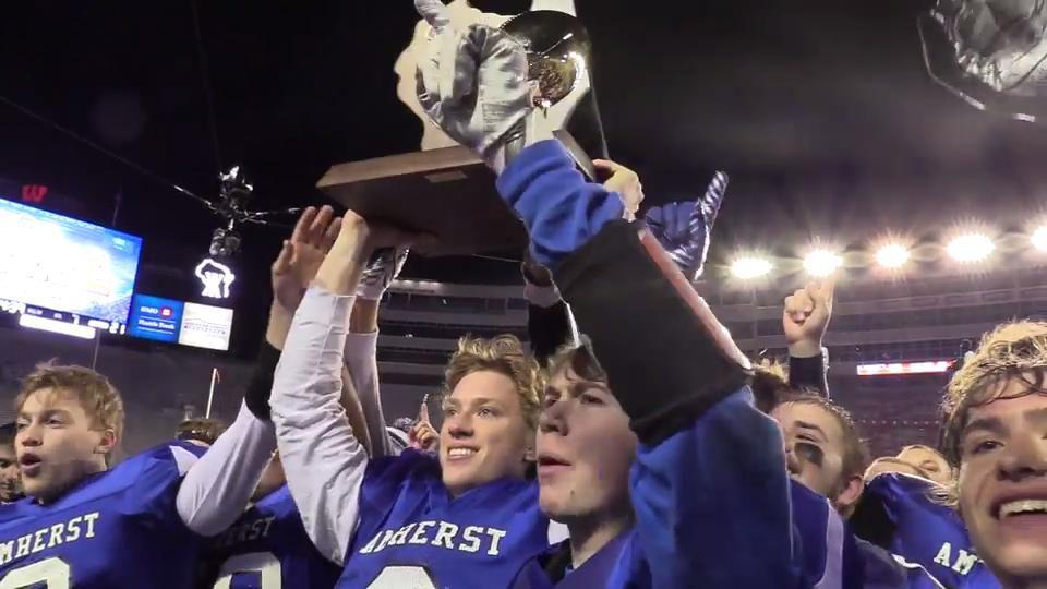 Amherst defeated Lake Country Lutheran in the D5 state title game at Camp Randall Stadium in Madison, Wis. on Nov. 16, 2017