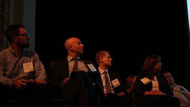 This years 20 Under Forty honorees are recognized at an event at the Grand Theater in Wausau, Wis., on Thursday, November 16, 2017.