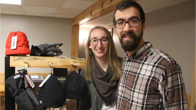 Cai and Mallory Dickman created a business to keep Wisconsin residents warm during the winter months.