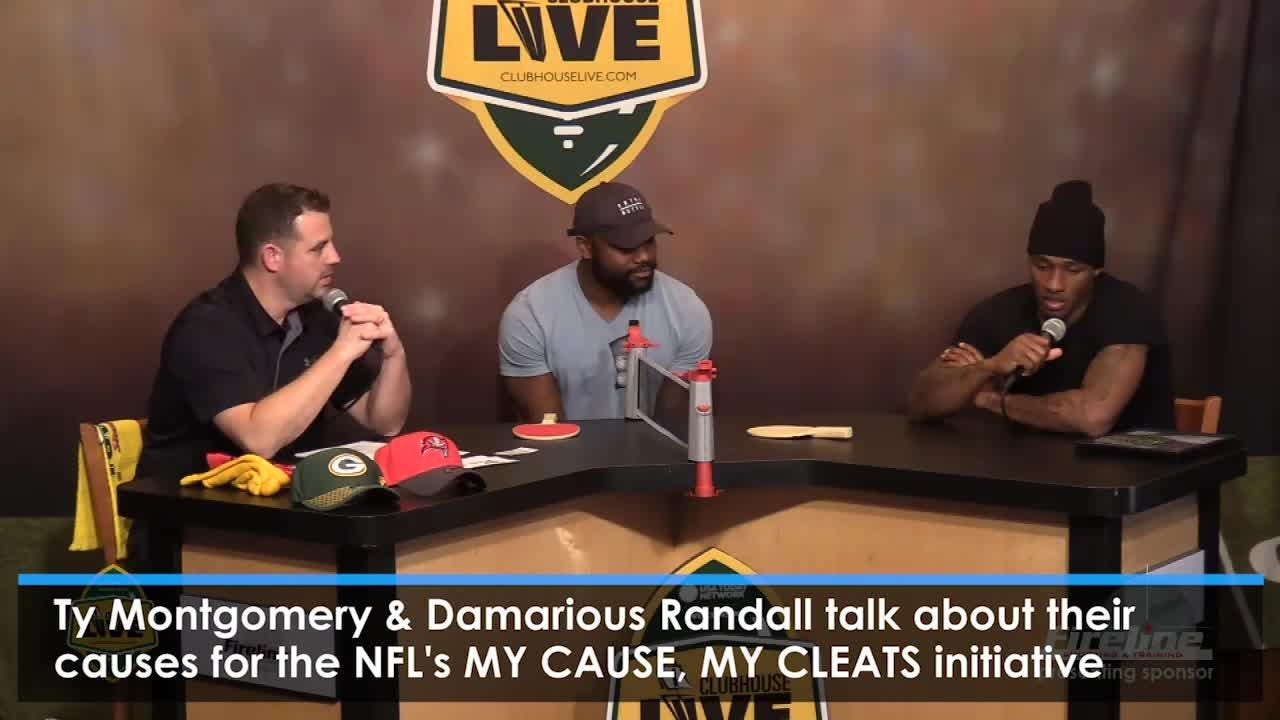 Green Bay Packers players Ty Montgomery and Damarious Randall talk about the special causes for the NFL's My Cause, My Cleats initiative on Clubhouse Live. (Nov. 28, 2017)