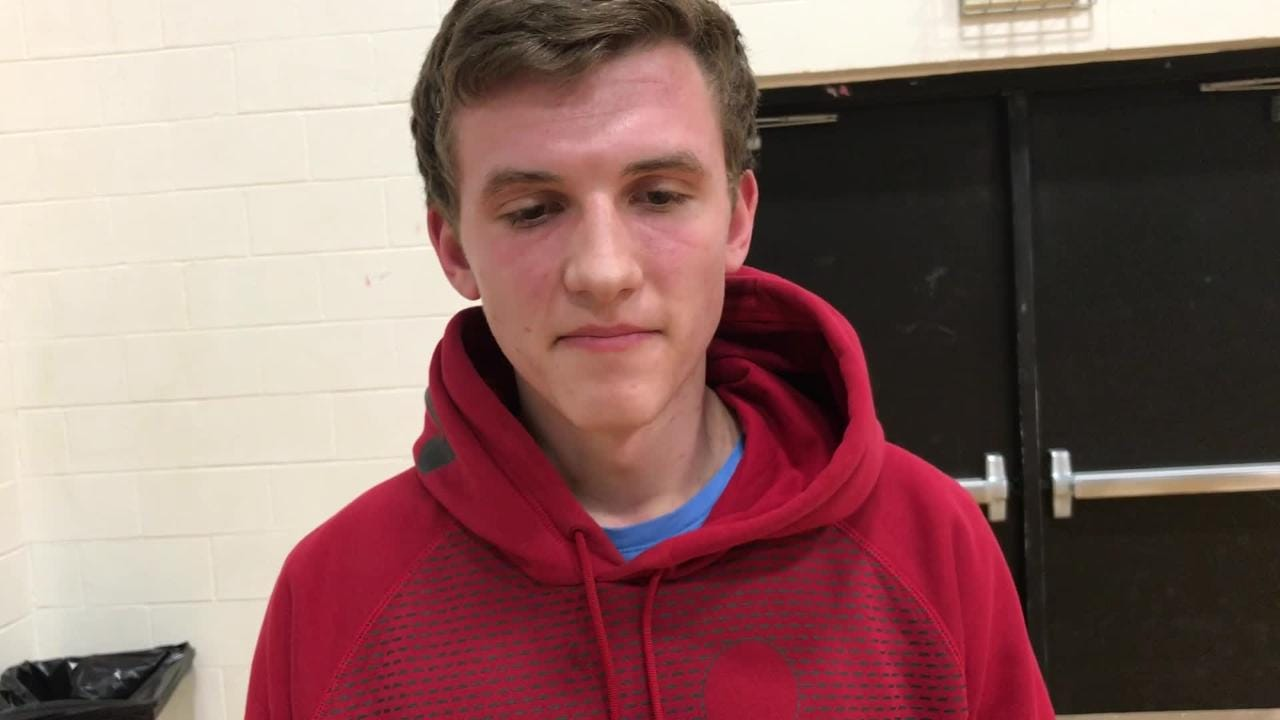 Berlin boys basketball player Justin Bartol takes a turn in the Senior Spotlight