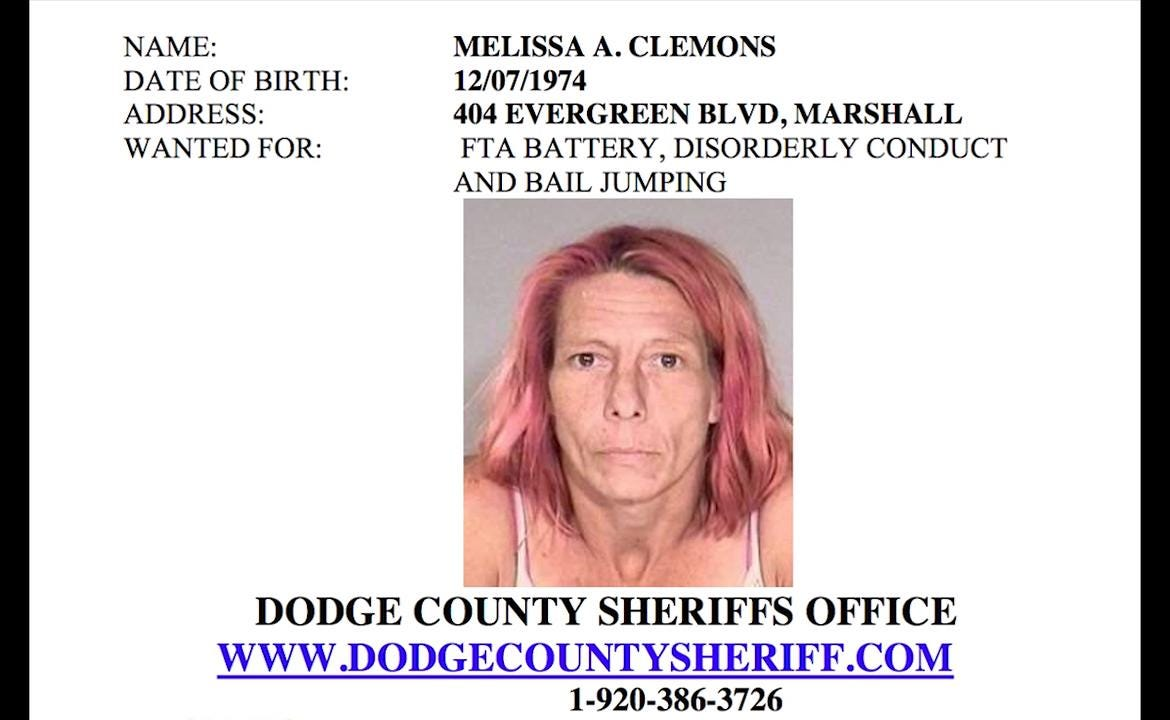 Call the Dodge County Sheriff's Department if you know the whereabouts of any of these people.