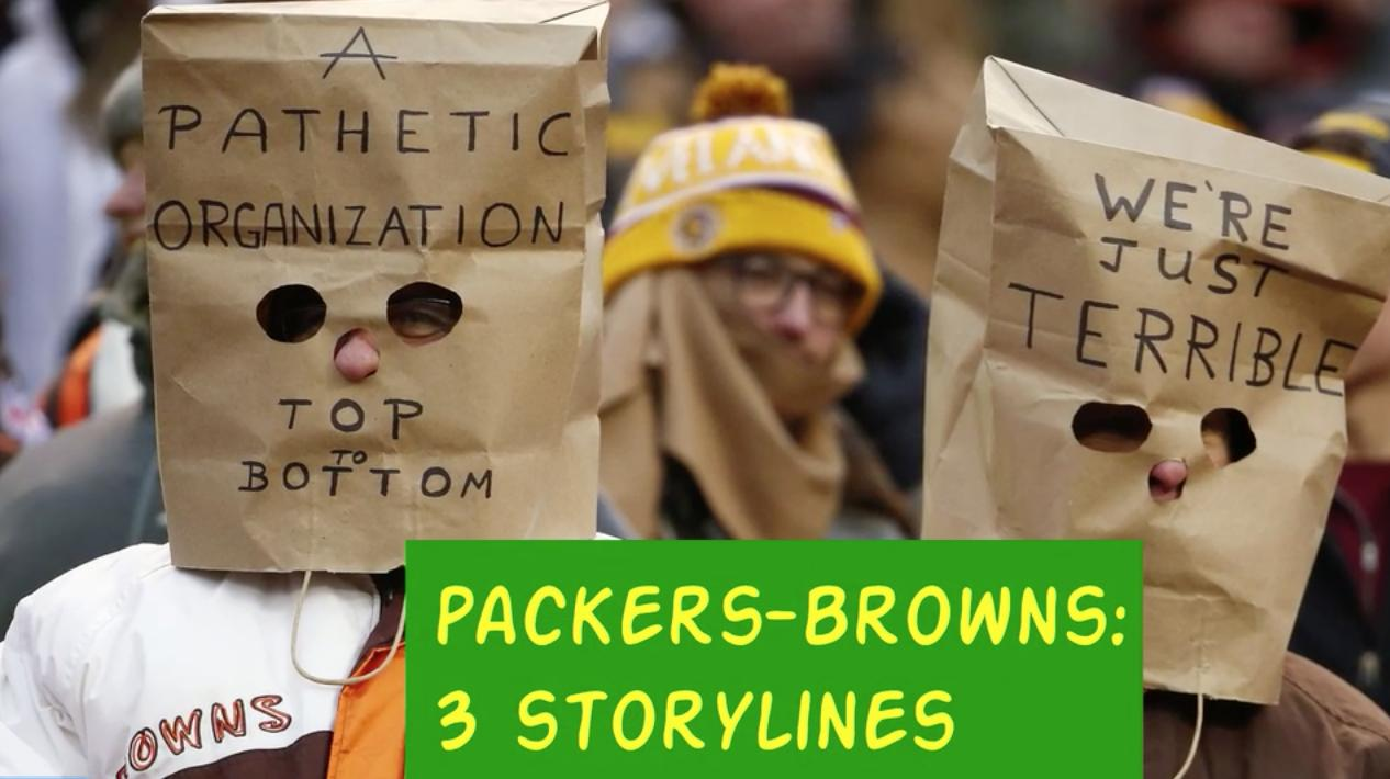 A quick overview of three storylines that could help determine the outcome of Sunday's showdown between the Green Bay Packers and the Cleveland Browns.