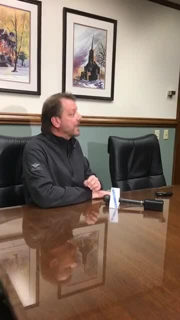 Rev. Jay Fostner, St. Norbert College vice president of mission and student affairs, hosts a news conference to discuss the women's basketball team's 10-game suspension for alcohol-related incidents. (Dec. 7, 2017)