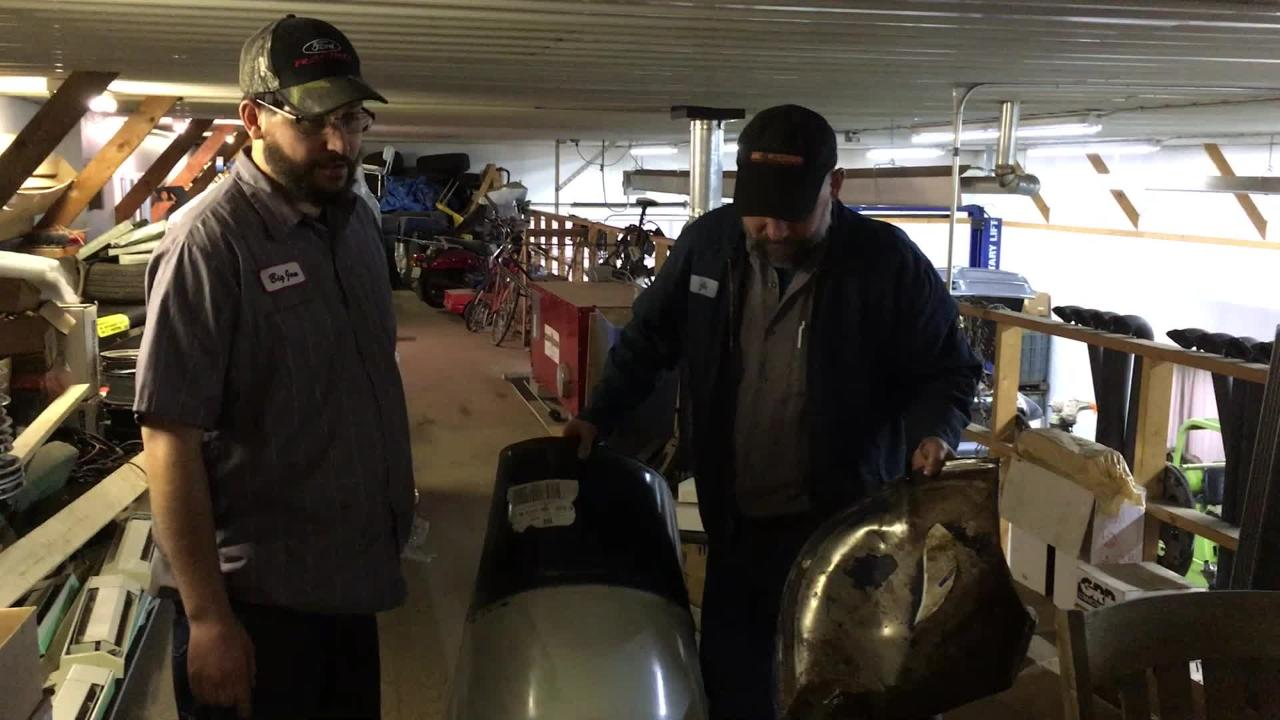 Joe and Jon Rygiel explain how a barrel exploded in their Cadott transmission shop